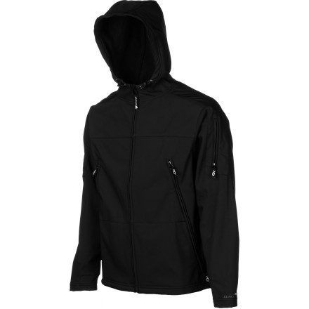 Snowboard The Dakine Men's Airlift Softshell Jacket may look like a simple hoodie, but it features a 10K-rated waterproof breathable shell for extra weather protection no matter where you go.  Use this zip-up for your daily grind,  wear it as a mid layer for snowboarding, or rock it by itself during spring shred sessions. - $129.95