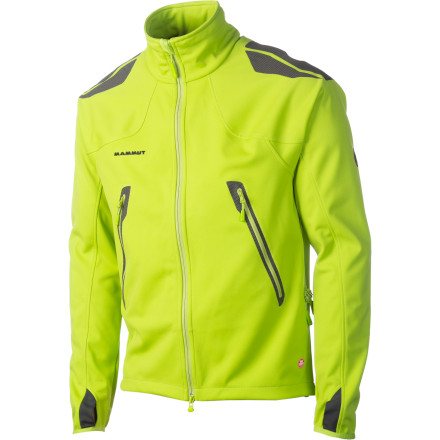 The Ultimate Advanced Jacket from Mammut offers wind protection and stretchy weather resistance without the bulk of a hard shell. - $168.32