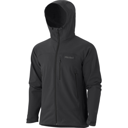 Ski Whether hiking or ski touring, you try to coordinate your breathing and steps in the most efficient pattern possible. The Marmot Tempo Hooded Softshell Jacket helps you regulate your body heat, stay dry, and keep moving at your most comfortable rate thanks to its advanced M3 Softshell fabric. - $67.48