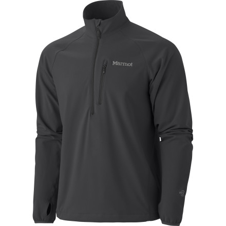 Fitness Before you step outside for your chilly morning run, pull on the Marmot Men's Tempo 1/2-Zip Softshell Pullover for some extra warmth. Breathable fabric makes short work of sweaty vapors underneath while you hammer out the miles, and a headphone port inside the chest pocket makes it easy to listen to some music. Alone, this top fights the cold, but underneath a shell jacket, it serves as a toasty-warm mid-layer on the most bitterly cold days. - $94.95