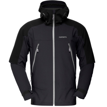 Chip away at your extensive bucket list with the help of the weather-resistant Norr''na Men's Falketind Flex 1 Jacket. This lightweight, highly packable softshell is designed for maximum mountaineering versatility, stretching to aid mobility while protecting you from wind and rain. Excellent breathability and underarm zip vents help keep you comfortable on grueling climbs. Norr''na added shoulder-and-hip reinforcements to bump up durability against a backpack or harness, as well as welded seams to improve comfort as you move. - $273.90