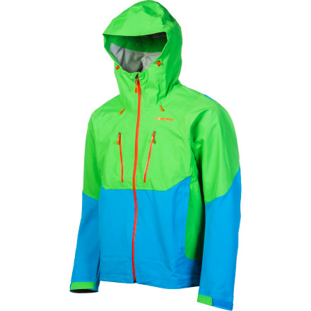 Ski As you work up a multi-pitch alpine route or boot up a 4,000-foot couloir with skis on your back, the Patagonia Mixed Guide Hooded Softshell Jacket keeps you protected from the elements while efficiently regulating your core temperature. This jacket features two strategically placed technical fabrics to meet the needs of the most technical climbers and backcountry skiers. Waterproof breathable H2No fabric technology in your exposed areas seals out flakes and dripping ice while highly breathable Polartec Power Shield allows sweat expulsion and mobility as you travel through the volatile alpine world. - $194.95