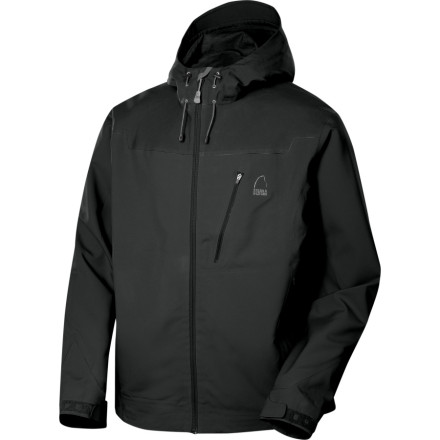 Camp and Hike Take the Sierra Designs Mens Vapor Hooded Softshell Jacket along for a spring backpacking trip. Without taking up all the space in your pack, this lightweight jacket stuffs away when you dont need it, and blocks hard winds and keeps you dry when storms roll in. - $69.47