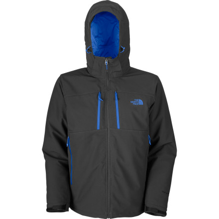 The North Face insulated Apex Elevation Softshell Jacket will take you seamlessly from slope to stool. Ideal for chilly, mostly dry days, the Apex Elevation gives you the easy mobility of a softshell, combined with PrimaLoft Eco insulation for warmth. - $139.27