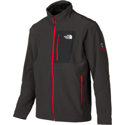 The North Face Men's Apex Summit Thermal Jacket utilizes Polartec Windbloc on the outside to fend off biting ridge-line gusts and a high-loft fleece backer on the inside to prevent bone-deep chills. - $126.47