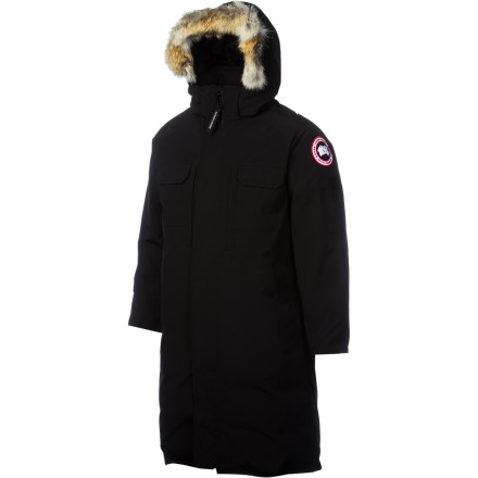 Entertainment Staying in control when the elements are extreme requires poise, strength, and the cold-zapping power of the Canada Goose Westmount Down Parka. Designed with a longer, knee-length cut, the Westmount helps you stand down the storm without batting an eye. A generous helping of premium 650-fill white duck down insulation keeps your precious body heat next you your skin, and an array of field-ready pockets shelter your trusty optics, note pad, phone, and leather-bound flask from the swirling cold. - $894.95