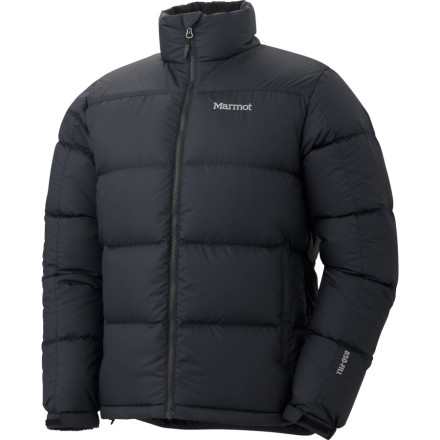 Ski High-quality down is used to fill the Marmot Mens Guides Sweater so you dont have to worry about being uncomfortably cold wherever you may roam. DWR-coated polyester protects against light moisture when your hard shell is packed away. - $109.97