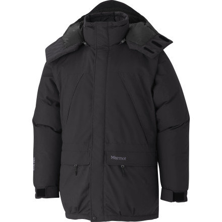 Ski The Marmot Men's Yukon Down Parka is like a wearable sleeping bag. Stuffed with 650-fill goose down, this waterjacket melts the alpine cold to keep you warm on snowy ridge traverses, in high-altitude basecamps, and around frosty northern ski towns. - $449.95