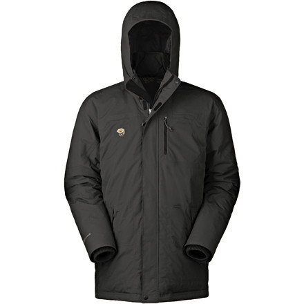 Ski The waterproof breathable Mountain Hardwear Men's Downtown Coat defeats cold weather with 650-fill down insulation. The insulated hood holds warmth around your head, from where most of your body's heat would otherwise escape. Draw the Downtown Coat's hem cords and bomb that hill on your toboggan, or stuff this down jacket into your winter pack and bring it on your subzero ski tour. The sleek design prevents you from looking like a stuffed holiday goose, and the extended length lends you urban style. - $262.47
