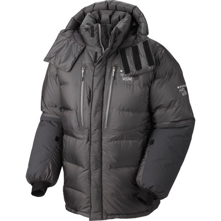 Mountain Hardwear designed the Absolute Zero Parka to keep you warm in the coldest environments on Earth. Packed with 800-fill goose down, the Absolute Zero does its job with some of the very best insulation found anywhere in nature, and its fully welded construction is tough, lightweight, and waterproof. - $799.95