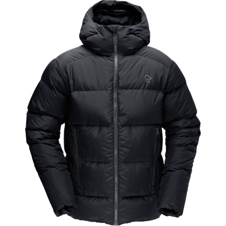 Ski Toss on the Norrna Men's /29 Down750 Jacket before you catch your kid's hockey game or ski meet. Packed with 750-down fill insulation, this warm and stylish jacket keeps you toasty and comfortable in frigid temps, while its large, fitted hood shields your face from the elements. - $383.90