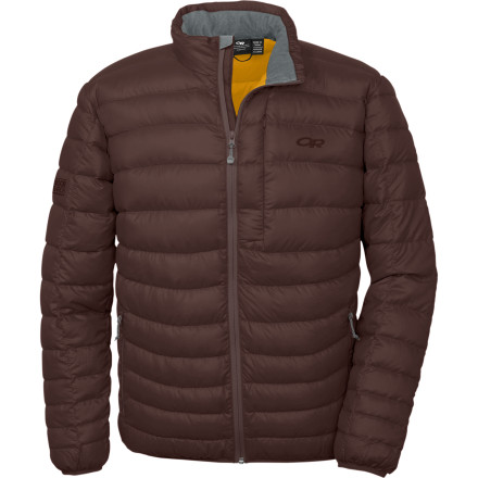 If you've ever worn an ultralight down jacket under a shell on a frigid day, you know that you're not going to find anything much warmer or more comfortable. If you haven't experienced this revelation yet, don't delay one season longer and pick up the Outdoor Research Mens Transcendent Down Jacket now. This baffled puffy is packed with 650-fill goose down that gives you the ideal amount of warmth for frigid belays, bone-chilling lift rides, or, when worn on its own, brisk nights around town. It's highly compressible, too, so it accommodates a shell without problem or, when you're carrying it in your pack just in case, you can pack it into its own front zip pocket for easy portability. - $179.95