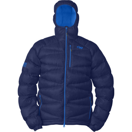Climbing Whether you're pushing through the cold of a predawn approach or on belay during a midwinter ice climbing session, The Outdoor Research Incandescent Hooded Down Jacket keeps your body heat where you need it. This baffled puffy jacket gives superior insulation without adding much weight to your kit. - $178.72