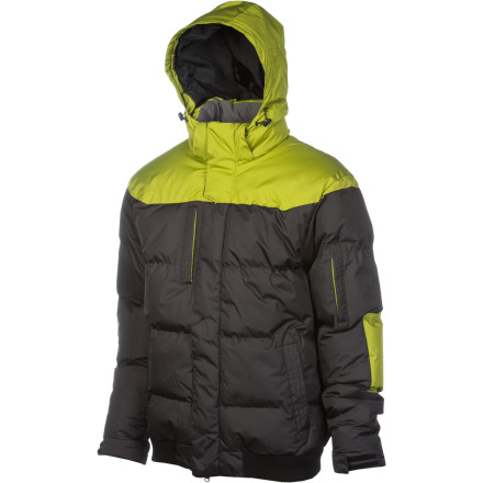 When winter gets serious and temperatures dip into the single digits, throw on the Planet Earth Plein Puffy Jacket with 340g Polyfill insulation and head out. Unlike down jackets, the Plein insulates even if it gets wet, so you don't have to worry about being killed in a sudden unexpected snowball attack. - $139.96