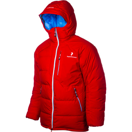 Ski Instead of choosing between the benefits and drawbacks of down or synthetic insulation, Peak Performance has stuffed the Men's BL Down Jacket with a combination of 800-fill down and ThermoCool for uncompromising warmth and performance in challenging mountain terrain and conditions. The highly compressible and weather-resistant WindStopper shell protects from the elements while the strategic box construction eliminates cold spots in the body and sleeves. Adjust the hood and hem and make yourself comfortableyou're never going to want to take this puffy off. - $384.97