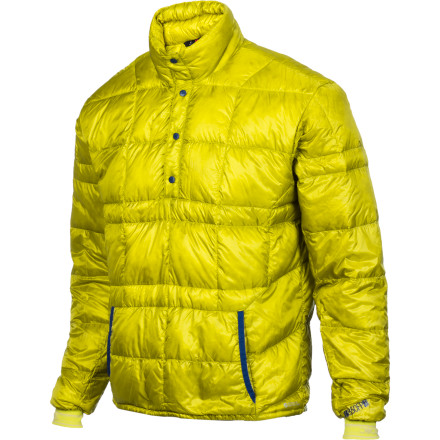 Camp and Hike At just seven-ounces light, the Stoic Men's Hadron Down Cardigan packs a powerful warmth-to-weight ratio that makes your other synthetic-insulated jacket look foolish in comparison. And honestly, how could your other jacket compete with the Hadron Cardigan's 850-fill goose down insulation and highly-breathable Pertex Quantum shell fabric' Stoic even gave this packable layer a 3-D ergonomic fit for supreme freedom of movement when you're touring or climbing, or even when you're whipping up a late meal at base camp. - $71.55