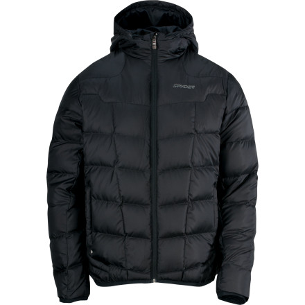 It it so cold that your spit freezes mid-air and shatters when it hits the ground' Sounds like it's time to bring out your Spyder Dolomite Hooded Down Jacket. Spyder loaded this jacket with 700-fill goose down that fends off the cold like a celebrity's bodyguard in a crowd of paparazzi. Whether you're teaching the younger generation how to rail turns or simply chilling on the lodge deck with a cold one, this jacket's mix of water-resistant tech and high-loft down provides ultimate comfort all winter. - $146.22