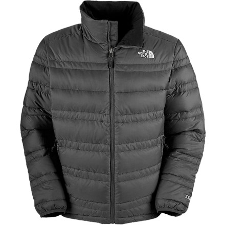 Rely on The North Face Men's Aconcagua Down Jacket for durable versatility that keeps you warm with 550-fill down; on or off the mountain. Designed with a durable ripstop exterior that consists of over 50% recycled materials, this rugged down jacket excels at shoveling driveways, walking down wind-tunnel city streets, and layering for winter adventures. When the weather gets really nasty, the Aconcagua will zip-in to your compatible North Face Shell to create the ultimate shield against the elements. - $103.97