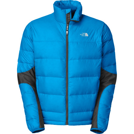 Climbing The North Face Crimptastic Hybrid Jacket uses strategically-placed panels to optimize warmth, breathability, and freedom of movement. 600-fill down on the outer arms, shoulders, chest, and back keeps you warm at your body's most exposed areas. The North Face used stretchy Polartec Power Stretch panels on the side panels, inside the arms, and on the underarms to improve breathability and free your range of motion so you can tweak, cork, and even vogue 'til the cows come home. - $136.92