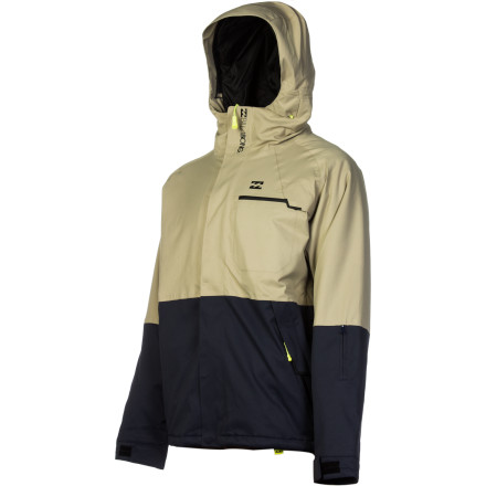 Snowboard Billabong designed the Torrent Insulated Jacket to provide total protection from nasty weather during the harshest winter months. Not only does the 20K waterproof rating mean that this jacket can stand up to any storm, but a super-high breathability rating of 20,000 g/m means water vapor can easily escape to alleviate any clamminess, and the body-mapped synthetic insulation keeps you warm where you need it so you can keep riding in the harshest weather when all your buddies have had to duck inside to warm up. - $128.23
