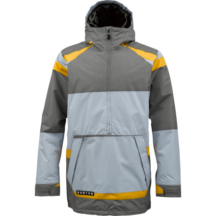 Snowboard Light insulation, a waterproof breathable membrane, and serious old-school styling set the Burton Highlife Anorak Insulated Jacket  apart from the mobs of cookie-cutter jackets that you'll see in the park this year. - $76.46