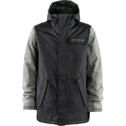 Snowboard If early-'90s Seattle rockers rode snowboards, they would be sporting the Foursquare Havoc Jacket. The 10k waterproofing easily holds off the continuous Northwest drizzle and the subdued colors go perfectly with deep, soulful lyrics about drug addiction. - $66.48