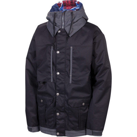 Snowboard The 686 Times Dickies Industrial Insulated Jacket hooks up some blue-collar style with more than enough tech to withstand gnarly winter weather. Fully taped seams and InfiDry 15 fabric seal out moisture while lightweight insulation offers low-pro warmth. - $96.00