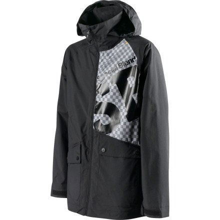 Snowboard Get a jacket that compliments your clean riding style with the Special Blend Beacon Men's Snowboard Jacket. Freedom Fit is loose for steeze and unrestricted movement, but you can still throw down on the jumps without getting tangled up in your own jacket and look good while you're doing it, too. - $66.48