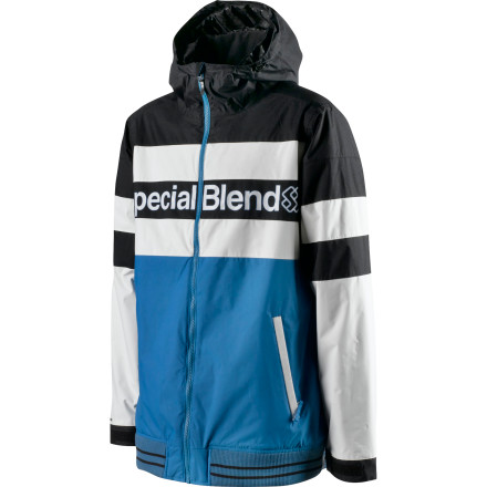 Snowboard With undeniable inspiration from a vintage track jacket and striking colors, the Special Blend Unit Insulated Jacket keeps you looking solid on the outside while strategic insulation and 10K water resistance keep you feeling right inside. - $62.98