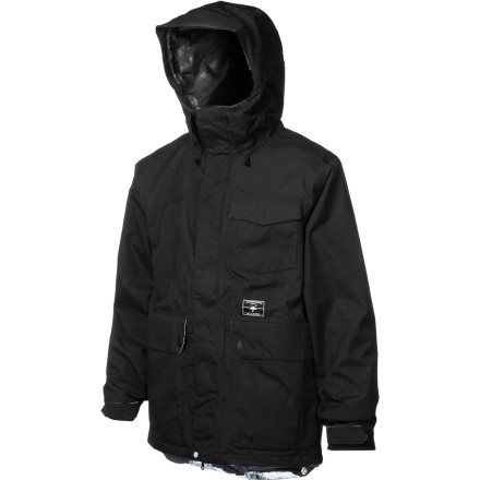 Snowboard When you wake up to a fresh blanket of snow, forget about school, forget about work, and zip up in your Volcom Men's Mountain Ranger Jacket. This sleek jacket sheds moisture to keep you dry in all that fresh powder, and a grip of comfort-inducing details keep you organized and feeling good. - $134.98