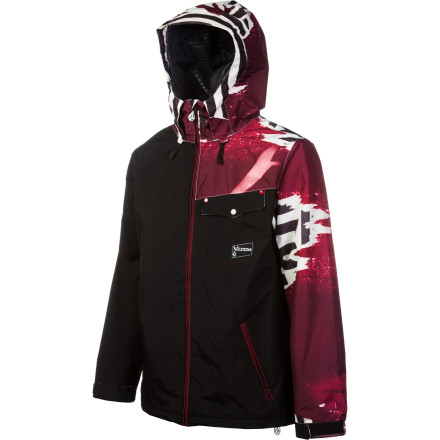Snowboard The Volcom Construct Jacket gives you the versatile weather protection you need to get down all season, and the style to look good doing it. Fresh patterns and contrast-color zippers compliment important tech features like V.Science water-resistant membrane. - $74.23