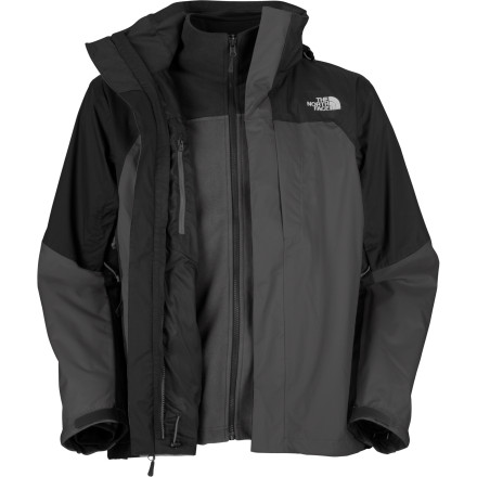 Ski Keep wind and water outside where they belong with The North Face's Windwall Triclimate Jacket. This 3-in-1 jacket pairs a waterproof HyVent shell with a wind-resistant WindWall fleece liner so that blustery weather never gets between you and your outdoor fun. - $174.97