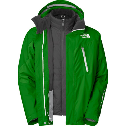 The scientists at The North Face come up with the Headwall Triclimate Jacket to adjust to the ever-changing winter conditions. Removable liner can be worn alone or as a mid-layer, while underarm zips built into the shell regulate and can dump excess heat. - $175.97