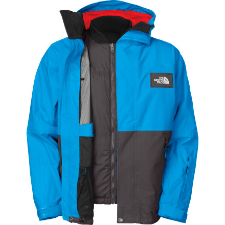 If you're a person who cares about versatility in his clothes, you'll be blown away by The North Face Ratchet Triclimate Jacket. The Ratchet is a true 4-in-1 jacket, which means the shell can be worn alone or the liner can be worn alone. Also, the liner is reversible and it can be worn alone that way, or the liner and the shell can be worn together to form one super-ultra-mega-jacket that will keep you warm in the dead of winter. - $159.98
