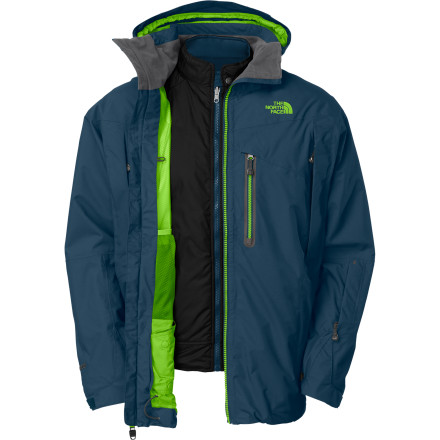 Ski Look no further than The North Face Men's Mendenhal Triclimate Jacket for all of your ski, mountaineering, winter, and around-town jacket needs. A reversible, insulated streetwear-inspired liner gives you two distinct looks, while its waterproof breathable HyVent shell has you covered on epic pow days. - $191.97