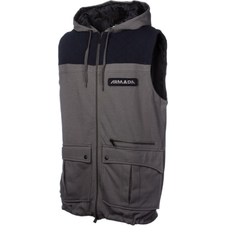 Ski The Armada Irwin Vest brings two of your favorite features together in perfect harmony. No sleeves ensure that you won't overheat, and the hood enables you to conceal your identity when the girl from last week shows up at the bar. Stash all your goodies in the spacious cargo pockets and storm off into the night ... or the day. - $48.97