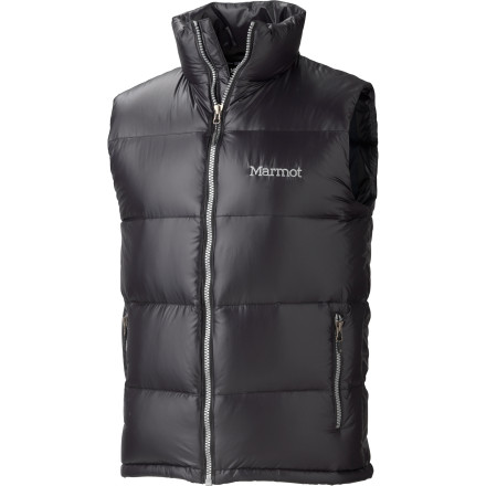 Toss on your favorite hoodie or flannel, and then pull the lofty Men's Stockholm Down Vest on for some extra warmth. Marmot engineers added a DWR coating to the shell fabric of this vest in order to protect the insulation from light precipitation in the fall or winter. - $122.47