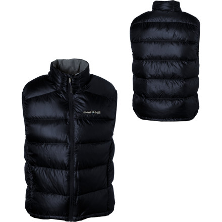 Camp and Hike Zip up the MontBell Alpine Light Down Vest when the sun dips below the ridge and you prepare for the cold night ahead. Conserve your body heat with the 800-fill power goose down stuffed inside this vest, which circulates the warmth as you cook dinner in your backcountry camp. - $134.95