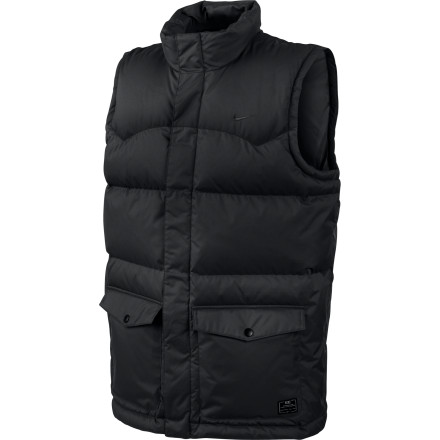 Snowboard The Nike 550 Fill Vest brings toasty down insulation and water-resistant ripstop polyester together to cover your corebut it's up to you whether you want to cover your guns or not. - $59.98