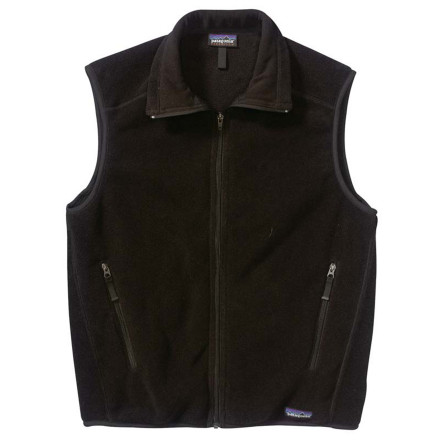 Ski Grab the Patagonia Men's Synchilla Vets for classic warmth in a recycled package. Sport this basic vest everywhere from a summer dayhike in the Colorado Rockies to a backcountry ski trip in the Sierras to a coffee shop in New York. This versatile and comfortable vest features zippered handwarmer pockets and an elasticized hem and armholes. Throw it under a shell or over a t-shirt for a cozy layer that's good for the environment. - $79.00