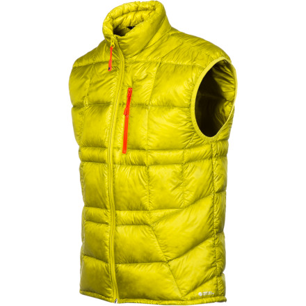 Fire back at the mountain's bone-chilling cold with the ultimate warmth of the Stoic Men's Hadron Down Vest and its 850-fill goose down insulation. At a feathery 6.8-ounces, this vest keeps it simple by protecting your core temperature without weighing you down. As for sleeves, the Hadron Vest doesn't need no stinking sleeves; you're faster, cooler, and more flexible without them. Stash this highly-packable vest in your pack so that you always have a down layer handy for the high-alpine freeze or a cold down-day in town. - $70.95