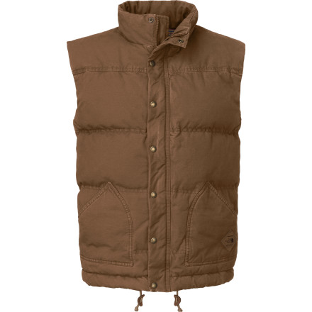 Jump off society's fast-paced ship when you slip on The North Face Newtok Down Vest and head into the woods for a few chilly nights among the pines. This flannel-lined canvas vest perfectly complements your manliest flannel, and its quilted 550-fill down insulation ensures you can endure chilly fall nights next to the fire. - $139.27