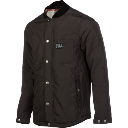 Snowboard Stop wearing your snowboard jacket to the bar and pick up the Holden Edison Jacket instead. Featuring a DWR treatment and 100g recycled insulation, you can still shrug off light rain or snow while looking classy. - $119.96