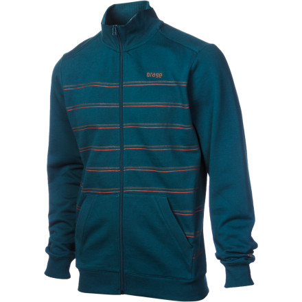 Ski A fleece is essential to anyone who doesn't live in perpetual summer, and the Orage Montana Fleece Jacket provides the basics and then some. Cozy, kick-back comfort, full zip, hand pockets, wide ribbed cuffs and waist, and sporty stripes make this fleece the one for chilling post-ski-session, at the heli-pad, or ski shack, or just plain chilling. - $31.98