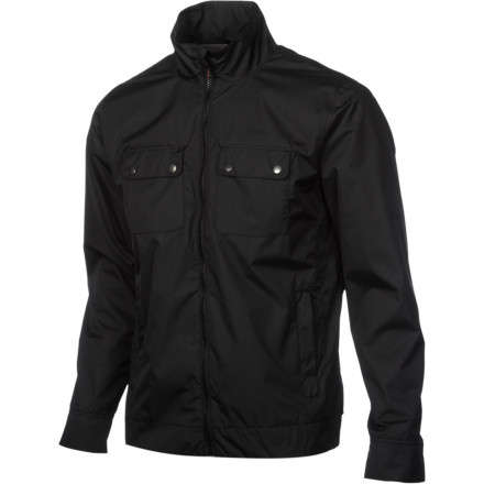 Surf Don't let inclement weather wipe the grin off your face when you're wearing the Quiksilver Smile Men's Jacket. It has a water-resistant treated polyester ripstop fabric with critical seams taped to keep you dry if you get caught in an unexpected downpour, so you can go about your daily business without worrying about getting soaked if the weather takes a turn for the worse. - $78.00