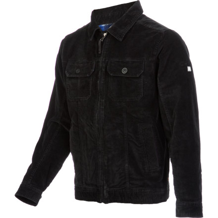 Surf Shower up after a chilly surf session, slide on the Quiksilver Men's Santa Cruz Jacket, and meet the boys for a celebratory beer. This laid-back corduroy jacket goes well with your simple, jeans-and-a-tee look and has plenty of pockets for you to stash your stuff. - $60.50