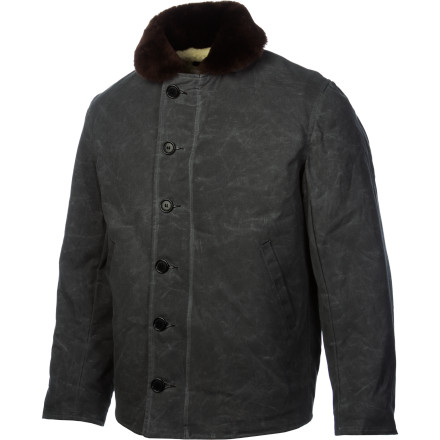Snowboard The retro styling and classic fit of the I. Spiewak & Sons Waxed N1 Deck Jacket have old-school badass written all over them. This waxed army duck jacket holds off the wind and rain and will definitely set you apart from your buddies in their cookie-cutter snowboard jackets. - $267.37