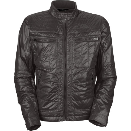 It's a sunny, slightly chilly day out there. Throw on The North Face Mack Moto Jacket, rev up your scooter, and cruise the strip. Two chest pockets hold your pocket protector and calculator, while two hand pockets keep your inhaler close by, in case you get all choked up when the ladies speak to you. - $90.97