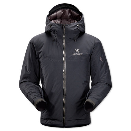 You might compare the Men's Fission SL Insulated Jacket to a fine Italian sports car; but why, you might ask, would we do such a thing' Because this jacket is the lightest weight, fully insulated, fully waterproof jacket in the Arc'teryx winter line. It's a sleek, high performance tool for going fast in the mountains, particularly in cold weather. This jacket packs down small, features all the fine fit-and-finish details you'd expect from a high-end piece of outerwear, and it fits your body like a glove. Backcountry skiers and alpine trekking aficionados have posters of this jacket on their wall at home...it's that good. - $698.95