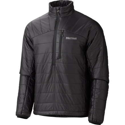 The Marmot Solaris 1/2-Zip Insulated Pullover delivers the kind of warmth you need when you're standing on the saddle of alpine peak trying to find the perfect place to drop. This jacket uses environmentally friendly insulation to trap body heat and seal out the cold under your shell. - $82.47